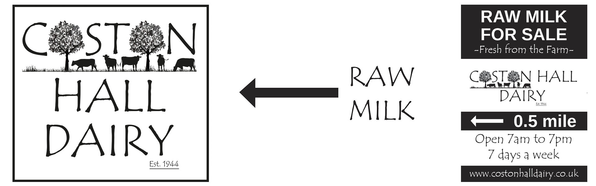 Raw Milk from Coston Hall Dairies
